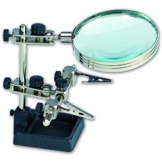 27022 - Artesania Latina - THIRD HAND MULTI ANGLE CLAMPS WITH MAGNIFYING GLASS