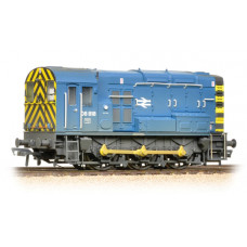 32-115B - Class 08 08818 BR Blue Wasp Stripes Weathered - Regular -195.79
