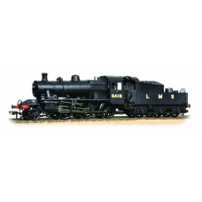 32-830A - Ivatt Class 2MT 2-6-0 6418 LMS Plain Black - Regular -210.79