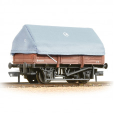 33-085A - 5 Plank China Clay Wagon with Hood BR Bauxite Weathered - Regular -28.79