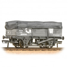 33-088 - 5 Plank China Clay Wagon with Hood GWR Grey Weathered - Regular -28.79