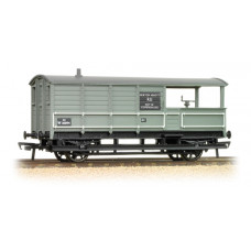 33-306D - 20 Ton Toad Brake Van BR Grey - Regular -27.79