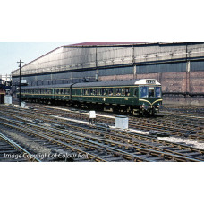 35-500 - Class 117 3 Car DMU BR Green Speed Whiskers - Regular -434.79