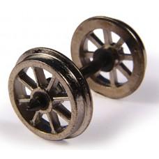 Branch-Line 36-014 - Metal Spoked Wagon Wheels (x10)