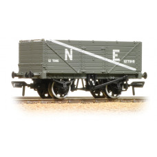 37-089 - 7 Plank End Door Wagon NE Grey - Regular -27.79