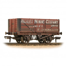 37-093 - 7 Plank End Door Wagon 'Highley Mining Company Ltd' Weathered - Regular -30.79