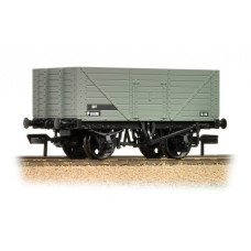 37-158C - (D) 8 Plank Fixed End Wagon BR Grey - Regular -24.89
