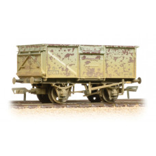 37-225H - 16 Ton Steel Mineral Wagon BR Grey Top Flap Doors Weathered - Regular -28.79