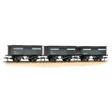 Branch-Line 37-236 - Triple Pack 16 Ton Steel Mineral Wagons NCB Grey Weathered
