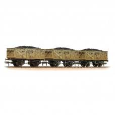 37-239 - Triple Pack 16 Ton Steel Mineral Wagon BR Grey with Loads Weathered - Regular -94.79