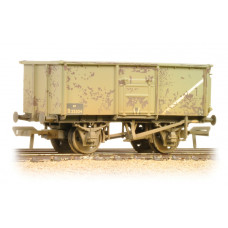 37-253B - 16 Ton Steel Mineral Wagon BR Grey Weathered - Regular -28.79