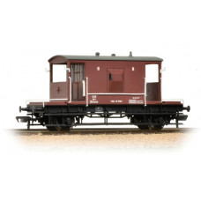 37-536A - 20 Ton Brake Van Flush Sides BR Bauxite - Regular -39.79
