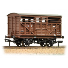 37-708A - 12 Ton LMS Cattle Wagon LMS Brown - Regular -27.79
