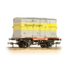 37-952 - Conflat with BD Container Speedfreight Grey & Yellow - Regular -28.79