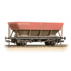 38-006D - 46 Tonne HEA Hopper BR Railfreight Red Grey & Weathered - Regular -39.79