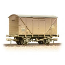 Branch-Line 38-182 - 12 Ton BR Plywood Fruit Van BR Bauxite (Early) Weathered