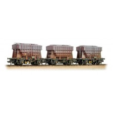 Branch-Line 38-287 - Triple Pack 22 Ton Presflo Wagons BR Bauxite Weathered