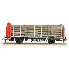 38-300 - (D) OTA (ex-VDA) Timber Carrier Wagon BR Railfreight Lumber Load - Regular -41.98