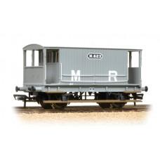 38-554 - Midland 20T Brake Van Midland Railway Grey (no duckets) - Regular -41.79