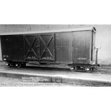 393-025 - Covered Goods Wagon WW1 WD Grey Weathered - Regular -57.79