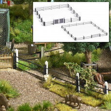1022 - Modern Steel Tube Fence