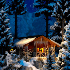 1085 - Wintry Wood Cottage