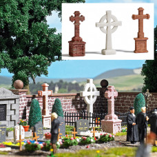1096 - Cemetery Stone Crosses 3/