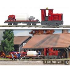 12119 - Fire Dept Loco & Flatcar