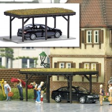1482 - Carport w/Grass Roof/Car