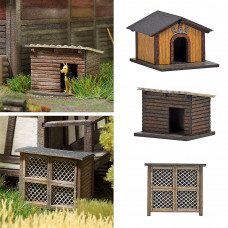 1522 - Rabbit Hutch/2 Dog Houses