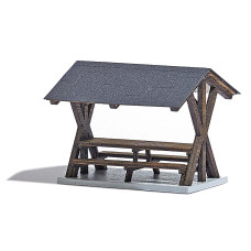 1563 - Wooden Roofed Table/Bench
