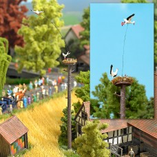 5481 - Flying Stork w/Nest