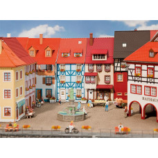 Faller 130495 Village Houses w/Bay 2/