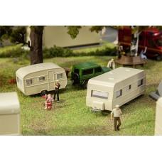 Faller 140483 Set Of Travel Trailers