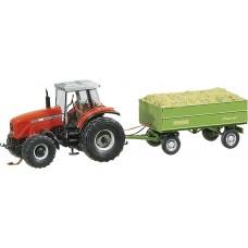 Faller 161536 MF Tractor w/Trailer