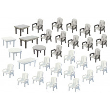 Faller 180439 24 Garden Chairs/6 Tables