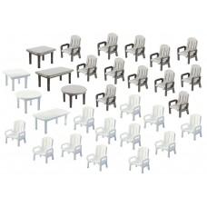 Faller 180439 24 Garden Chairs/6 Tables