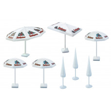 Faller 180440 Parasols Assorted 8/