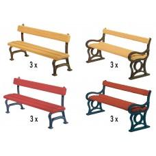 Faller 180443 Park Benches 12/