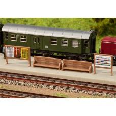 Faller 272904 Platform Benches/Billbrds