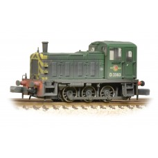 Graham Farish  371-063 - Class 03 D2383 BR Green Wasp Stripes Weathered