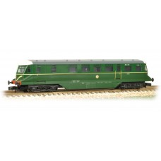 Graham Farish  371-628 - GWR Railcar W22W BR Brunswick Green Speed Whiskers