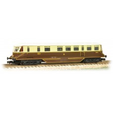 Graham Farish  371-629 - GWR Railcar 20 GWR Chocolate & Cream Shirt Button Emblem
