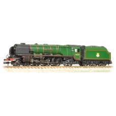 Graham Farish  372-181A - Princess Coronation Class 46221 'Queen Elizabeth' BR Lined Green Early Emblem