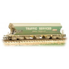 Graham Farish  373-235 - Bulk Grain Bogie Hopper Wagon 'Traffic Services' - Weathered