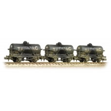 Graham Farish  373-665 - (D) Triple Pack 14 Ton Tank Wagons 'Tarmac' Black Weathered