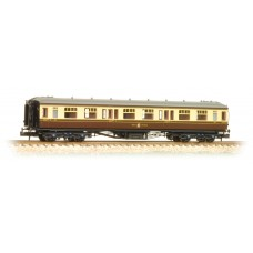 Graham Farish  374-536 - Hawksworth 3rd Class Corridor GWR Chocolate & Cream