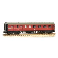 Graham Farish  374-825B - Stanier Brake Third LMS Crimson Lake
