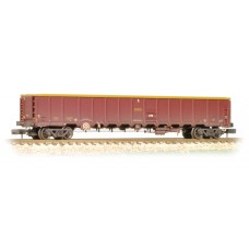 Graham Farish  377-650A - MBA Megabox Bogie Box Wagon (with Buffers) EWS Weathered