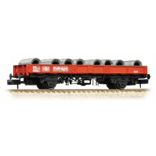 Graham Farish  377-725A - SPA Wagon BR Railfreight Red with Steel Coils